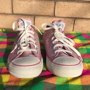 Converse Pink Metallic All Star Sneakers 9.5